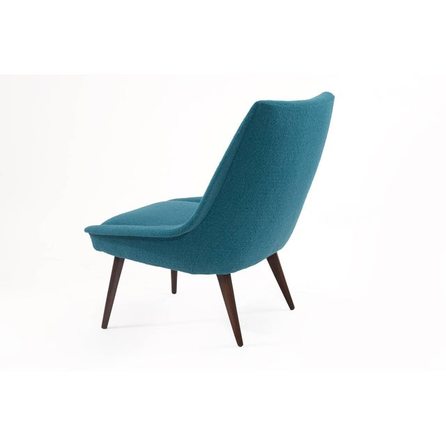 1950s Pair of Sculptural Upholstered Lounge Chairs For Sale - Image 5 of 6