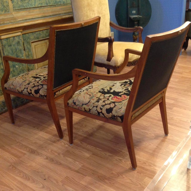 Late 19th Century Pair of Italian Neoclassic Armchairs For Sale - Image 5 of 13