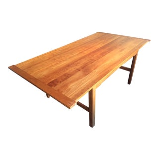 Vintage Scott Jordan Mission Style Dining Table For Sale