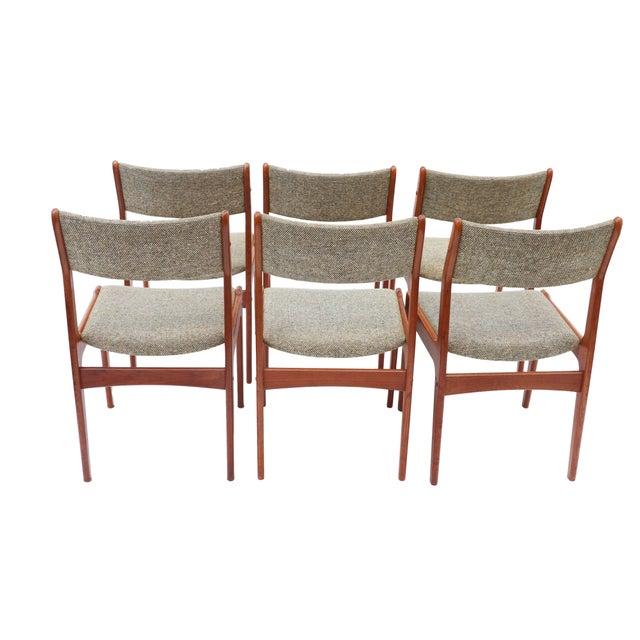 Scandinavian Danish Modern Teak Dining Chairs- S/6 - Image 6 of 10