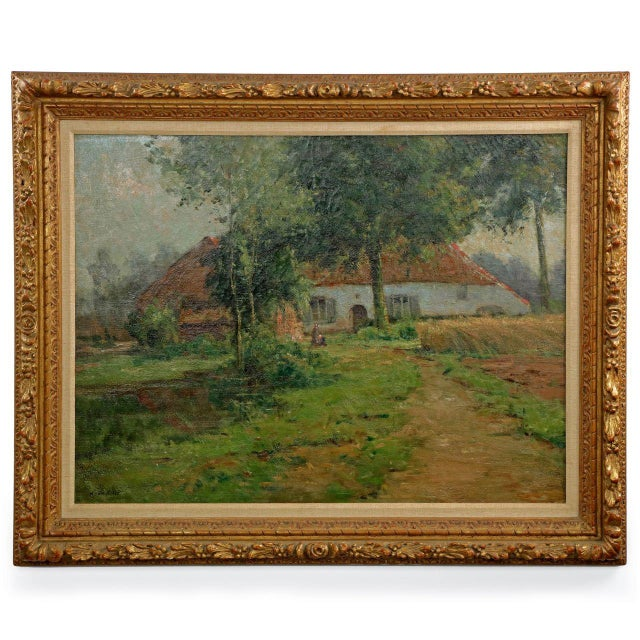 Lake Cottage Painting by Léon Riket - Image 2 of 9