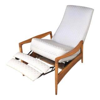 1950s Vintage Milo Baughman Reclining Lounge Chair For Sale