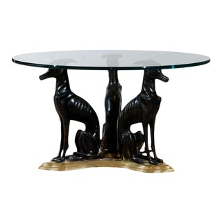 "Maitland-Smith Bronze and Brass ""Whippets"" Coffee Table"