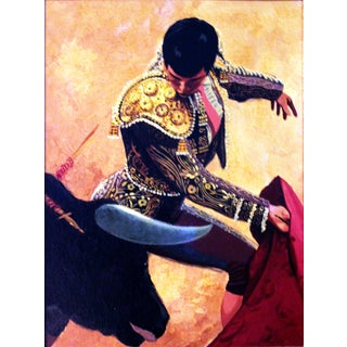 """Conrad Moulton """"The Bullfighter"""" Painting Giclee Print For Sale"""