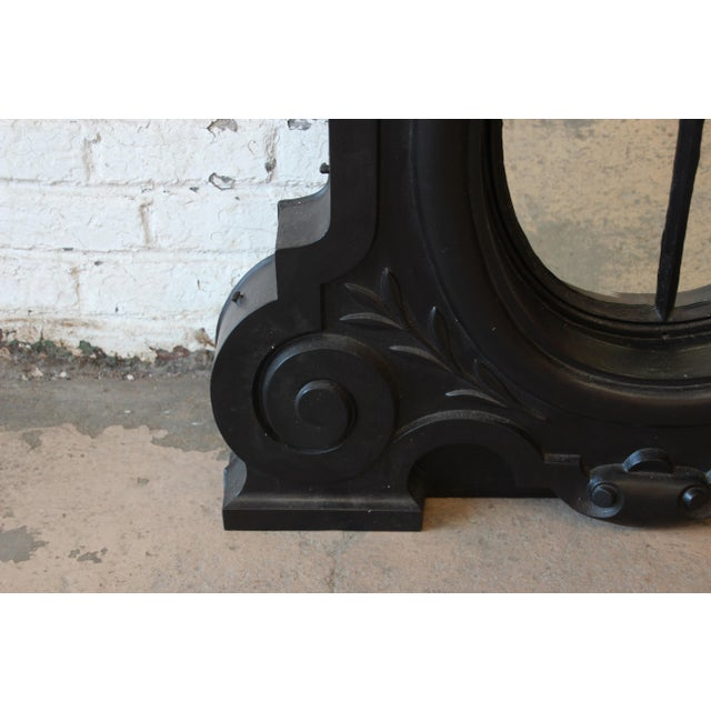 Black 19th Century Antique French Cast Iron Dormer For Sale - Image 8 of 12
