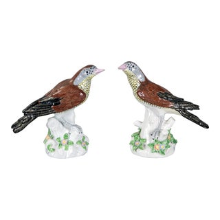 Porcelain Birds by Samson, Pair For Sale