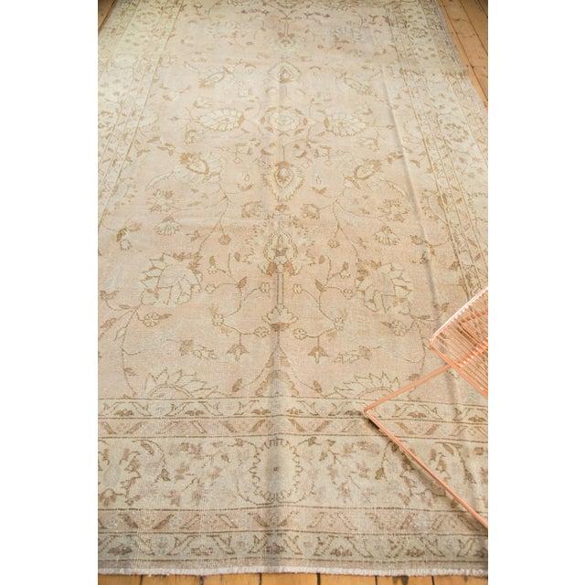 "Vintage Distressed Oushak Carpet - 7'2"" x 12'1"" For Sale - Image 10 of 10"