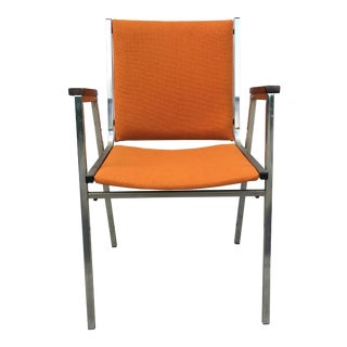 Vintage Orange Arm Chairs For Sale