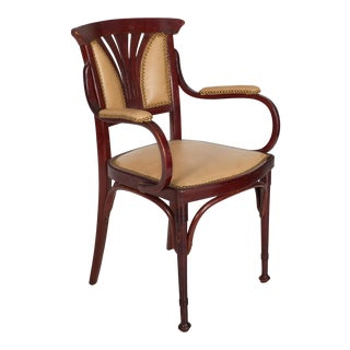 Vienna Secessionist Bentwood Arm Chair by Jacob & Josef Kohn For Sale