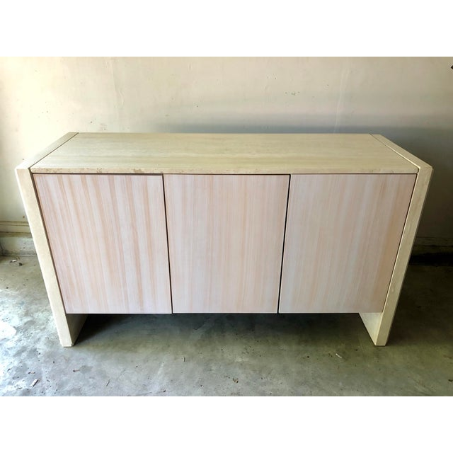 Vintage Italian Travertine Credenza Buffet For Sale - Image 9 of 12