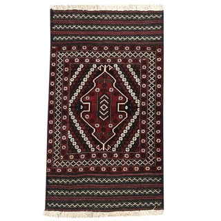Vintage Traditional Tribal Hand Knotted Rug- 2′11″ × 5′ For Sale