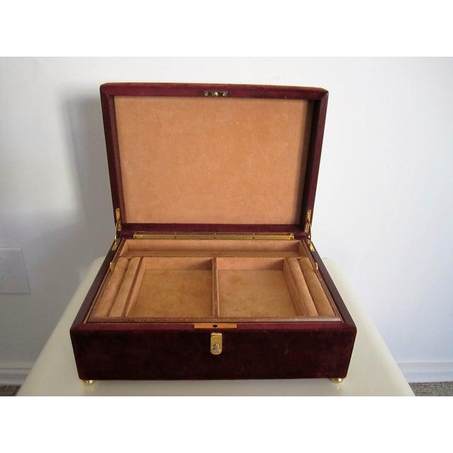Mark Cross Italian Suede & Leather Jewelry Box - Image 4 of 10