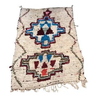 Vintage Moroccan Azilal Wool Rug - 4′ × 6′