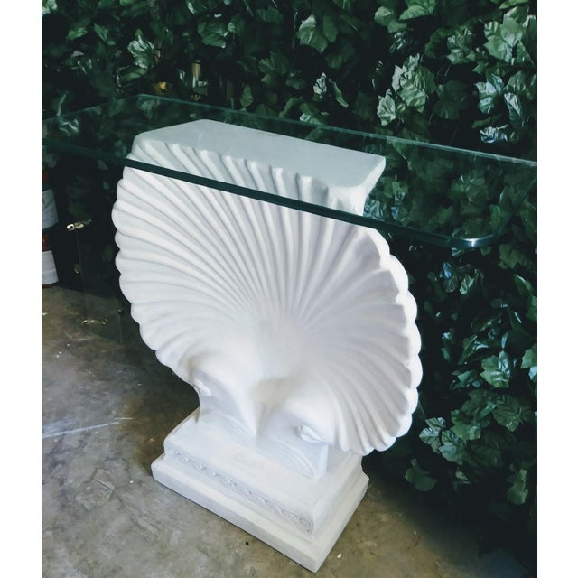 Hollywood Regency Monumental SeaShell Form Console Table Base Grosfeld House Style For Sale - Image 3 of 6