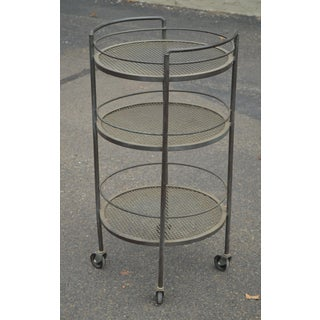 Vintage Wrought Iron 3 Tier Patio Garden Bar Cart Preview