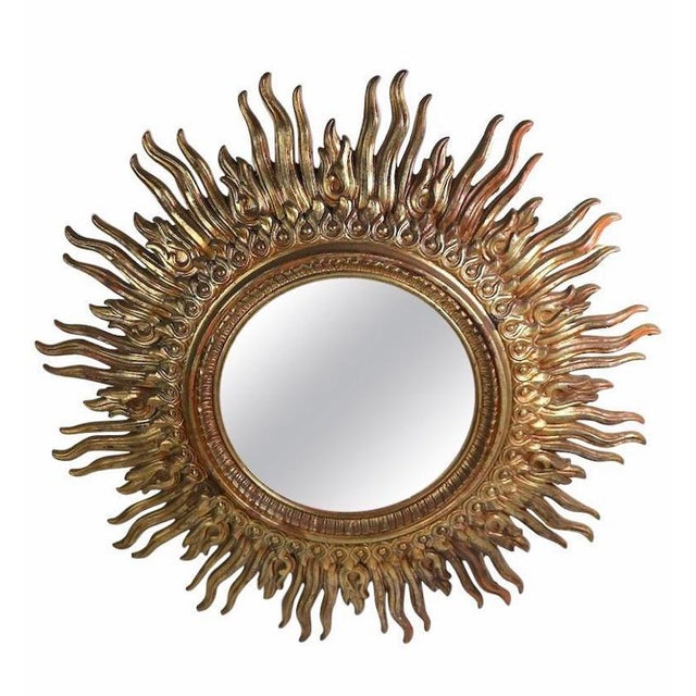 1970s 1970s Hollywood Regency Sunburst Wall Mirror For Sale - Image 5 of 5