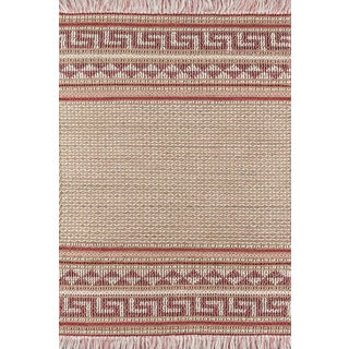 """Esme Pink Hand Woven Area Rug 3'9"""" X 5'9"""" For Sale"""