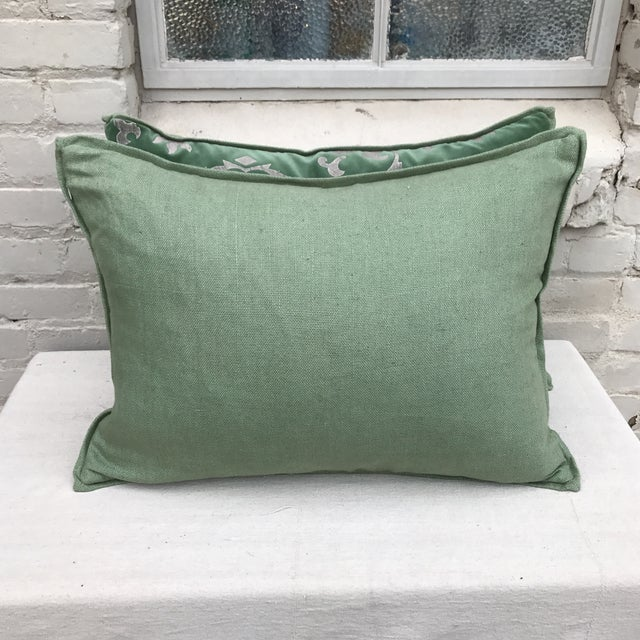 Custom Hand Stenciled Pillows - A Pair - Image 5 of 5
