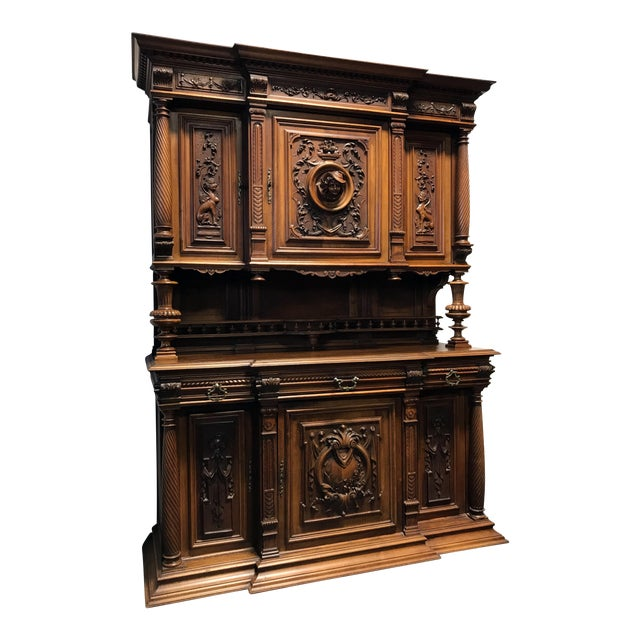 Late 19th / Early 20th Century French Carved Walnut Buffet a Deux Corps - Image 1 of 11