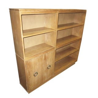Mid Century Limed Ash Bookcase For Sale