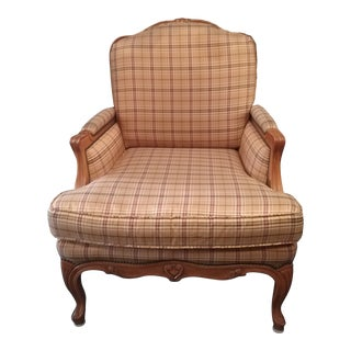 Baker Furniture Crown & Tulip Collection Bergere Chair For Sale
