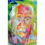 """Image of """"The Dude"""" by Trixie Pitts Expressionist Abstract Oil Painting For Sale"""
