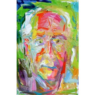 """The Dude"" by Trixie Pitts Expressionist Abstract Oil Painting For Sale"