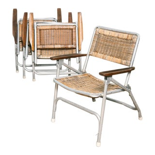 Set of 4 Vintage Folding Patio Chairs