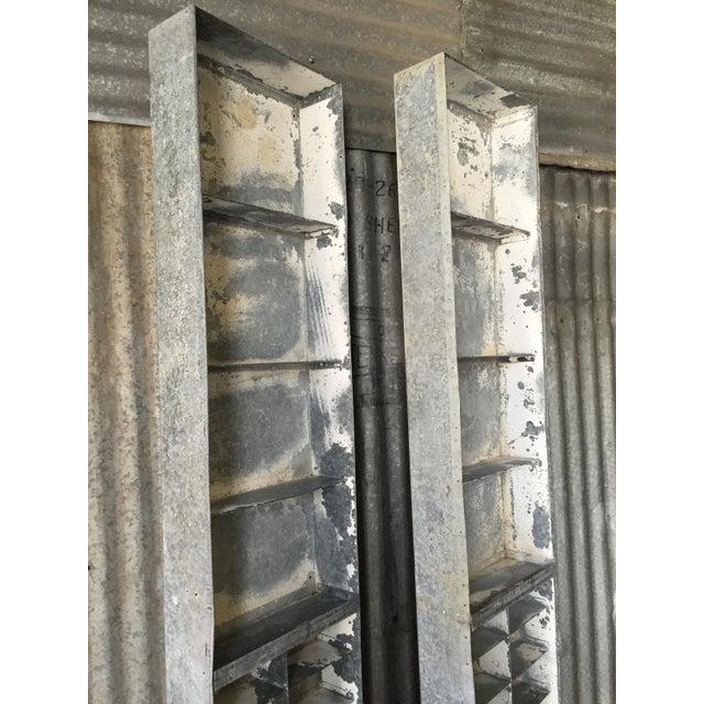 Vintage Large Industrial Metal Storage Shelf Unit - Image 6 of 11