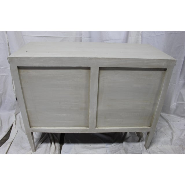 Mid 20th Century 20th Century Gutavian X Shape Front Carving Bedside Chests - a Pair For Sale - Image 5 of 8