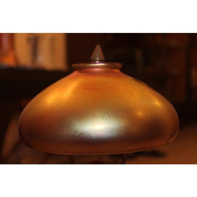 Gold Old Gold Aurene Dome Mushroom Shape Table Lamp For Sale - Image 8 of 10