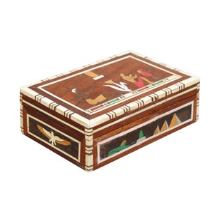 Decorative Inlaid Trinket Box For Sale