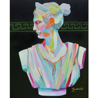 Pop Art Acrylic Painting, Greek Bust 1 For Sale