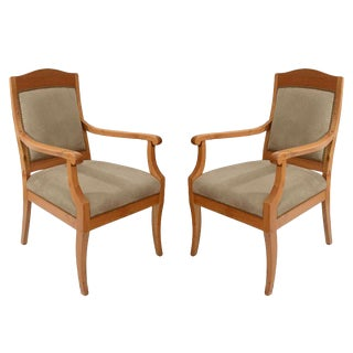 Pair of Jugend Stil Salon Chairs For Sale
