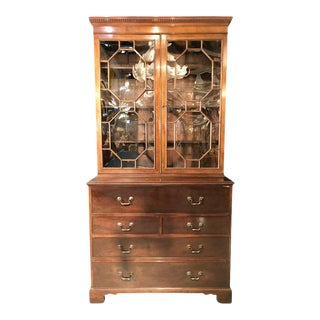 19th Century George Lll Style Butler's Secretary, Mahogany For Sale