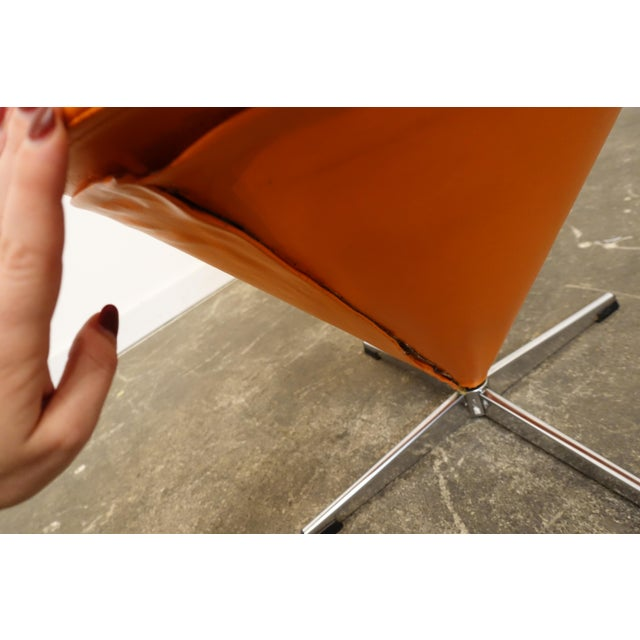 1970s Mid Century Modern Verner Panton Cone Chair For Sale - Image 5 of 7