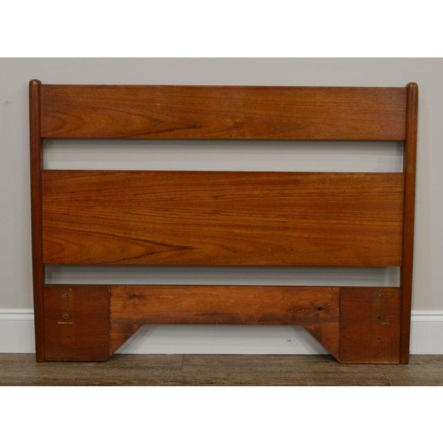 Wood Danish Modern Vintage Full Size Teak Headboard For Sale - Image 7 of 13