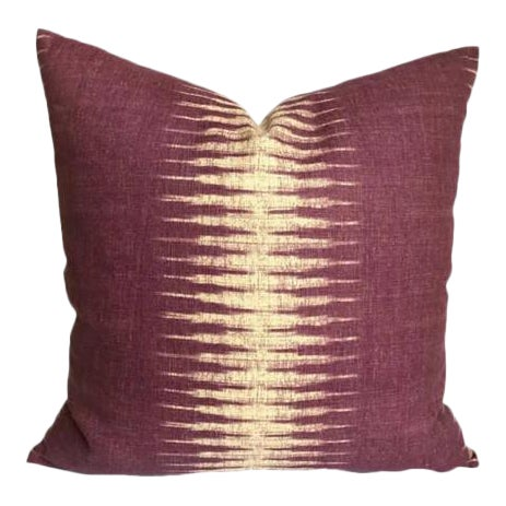 Purple Ikat Pillow Cover For Sale