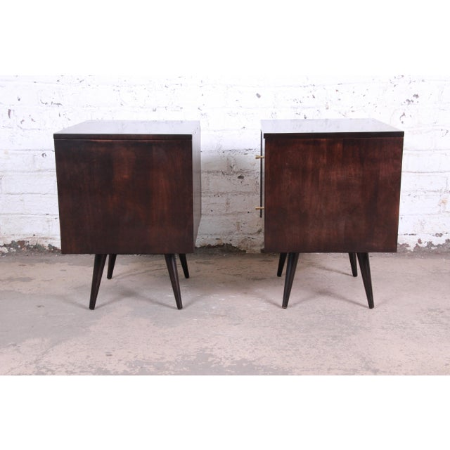Paul McCobb Planner Group Mid-Century Modern Nightstands, Newly Refinished - a Pair For Sale - Image 11 of 13