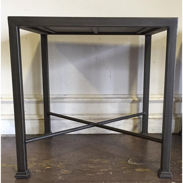 Custom Iron and Wood Side Tables - A Pair - Image 3 of 6