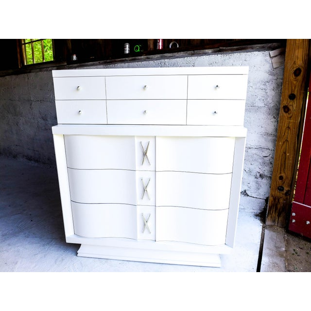 Mid-Century Freshly Painted Dresser For Sale In New York - Image 6 of 9
