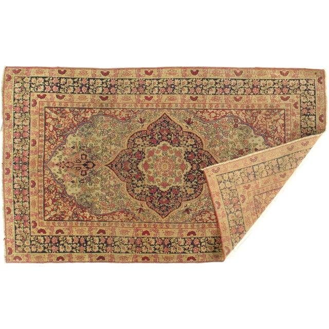 Islamic Late 19th Century Antique Persian Kermanshah Rug - 3′1″ × 6′5″ For Sale - Image 3 of 5