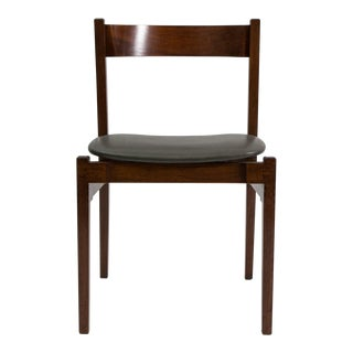 Set of 4 Walnut Dining Chairs by Gianfranco Frattini-1950′s For Sale