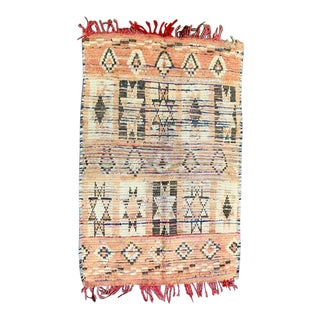 Vintage Berber Handmade Rug- 2′9″ × 4′1″ For Sale
