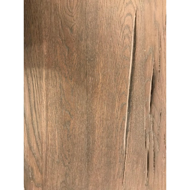 Early 21st Century Large Rustic Oak Dining Table For Sale - Image 5 of 11
