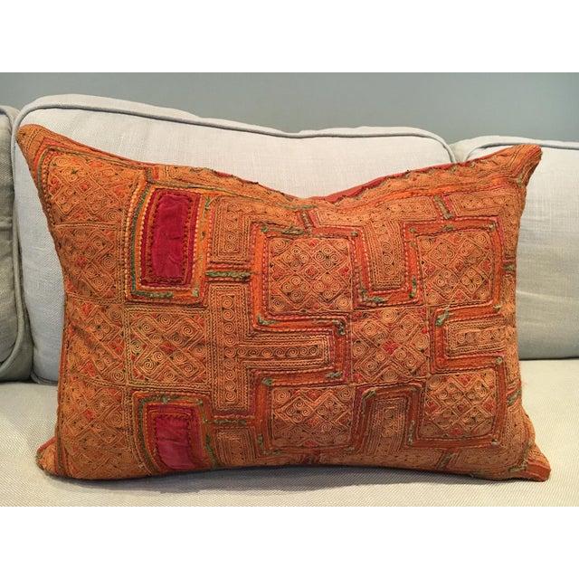 Vintage Thai Applique Pillow - Image 2 of 5