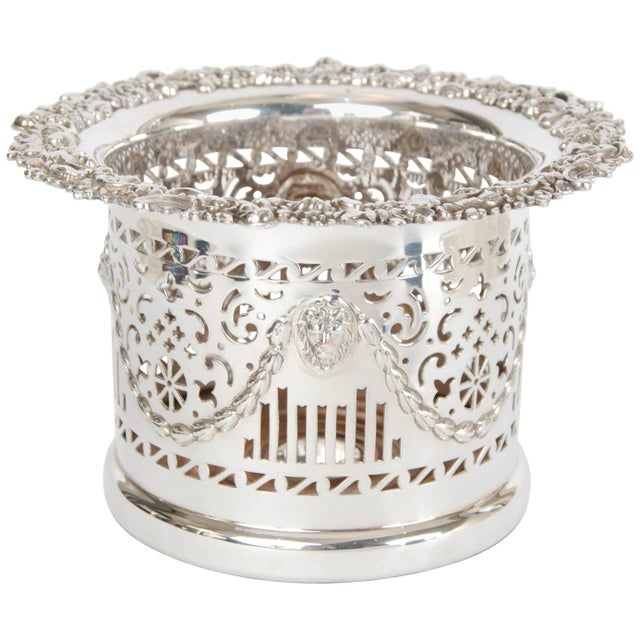 Silver Plate High Wine Coaster For Sale - Image 6 of 6