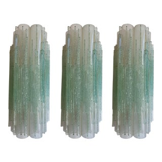 1970s Globula Glass Sconces by Poliarte, Italy - Set of 3 For Sale