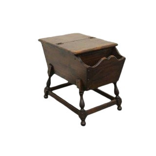 20th Century Early American Ethan Allen Pine Old Tavern Doughbox End Table For Sale
