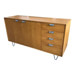 1950s Mid-Century Modern George Nelson Herman Miller Hairpin Leg Credenza For Sale